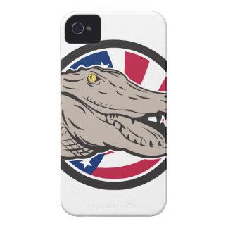 American Alligator USA Flag Icon iPhone 4 Case