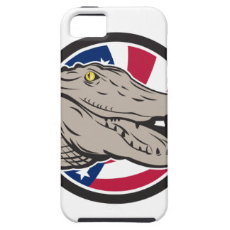 American Alligator USA Flag Icon iPhone 5 Cover