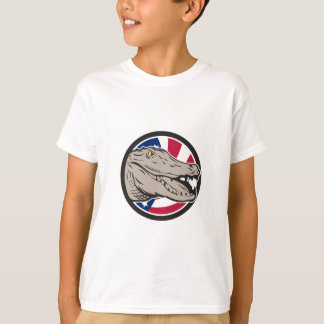 American Alligator USA Flag Icon T-Shirt