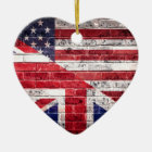 American and British flag. Ceramic Ornament