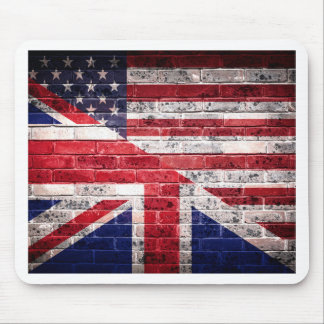 American and British flag. Mouse Pad