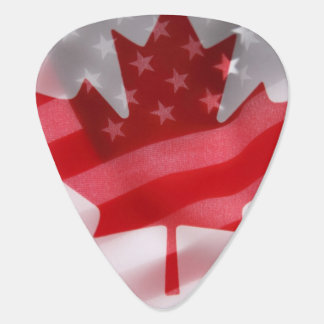 American and Canadian flags Pick