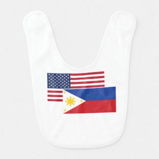 American And Filipino Flag Baby Bib