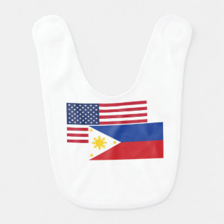 American And Filipino Flag Bib