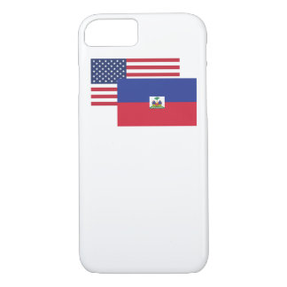 American And Haitian Flag iPhone 7 Case