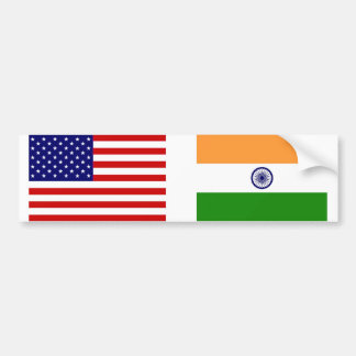 American and Indian Flags Bumper Sticker