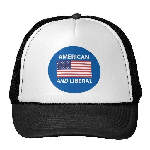American AND Liberal Patriotic Flag Design Mesh Hat