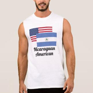 American And Nicaraguan Flag Sleeveless Shirt