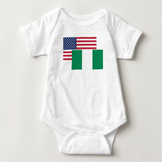 American And Nigerian Flag Baby Bodysuit