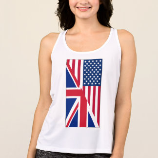 American and Union Jack Flag Performance Tank Top