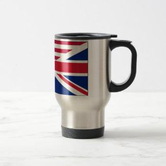 American and Union Jack Flag Travel Mug