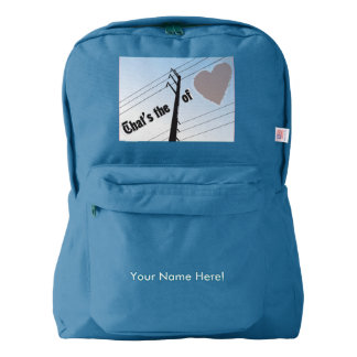 American Apparel™ Backpack POWER OF LOVE SILOUETTE