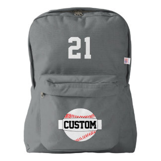 American Apparel Baseball Name and Number Backpack