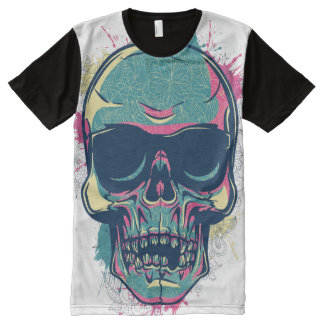 American Apparel: custom design with a skull All-Over-Print T-Shirt