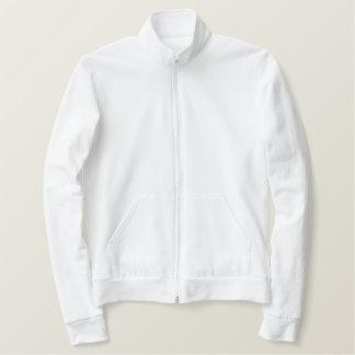 American Apparel Fleece Zip Jogger Jacket - White