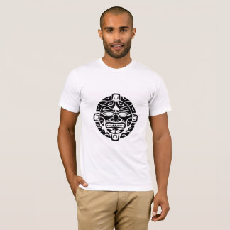 American apparel shirt with Maori tribal mask