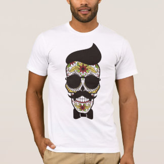 American Apparel: Sugar Skull with mustache T-Shirt
