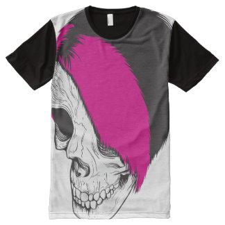 American Apparel Unisex: Punk Skull All-Over-Print T-Shirt