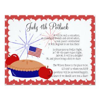 "American Apple Pie 4.25"" X 5.5"" Invitation Card"