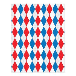 American Argyle (Red, White & Blue) Custom Letterhead