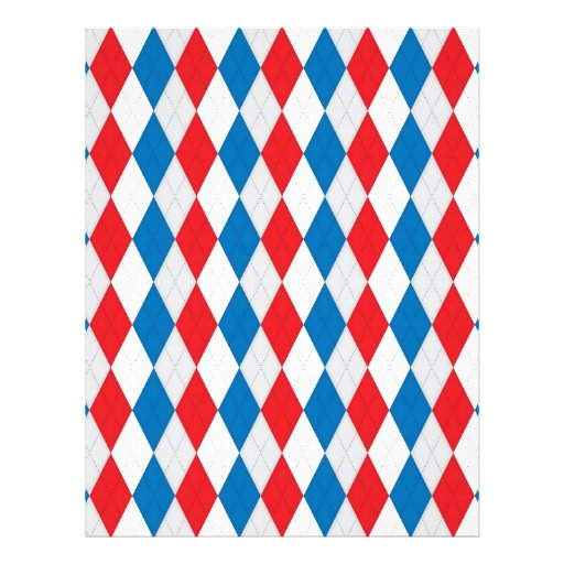 American Argyle (Red, White & Blue) Personalized Letterhead