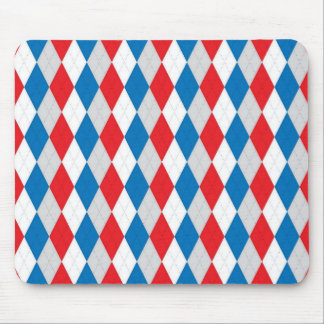 American Argyle Red White Blue Mousepads
