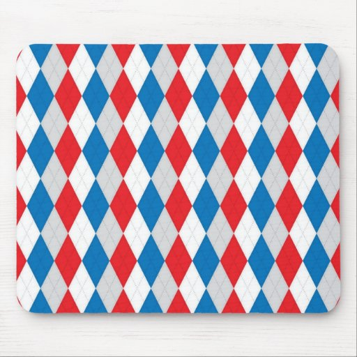 American Argyle (Red, White & Blue) Mousepads
