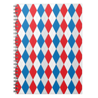 American Argyle Red White Blue Note Book