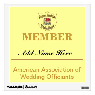 American Association of Wedding Officiants, Wall Decal
