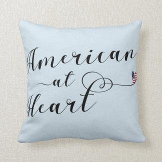 American At Heart Throw Cushion, USA Throw Pillow