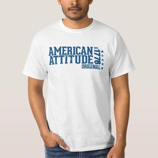 American Attitude T Shirt, Original White T-Shirt