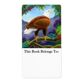 American Bald Eagle Bookplate Shipping Label
