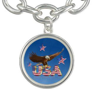 American bald eagle charm bracelets