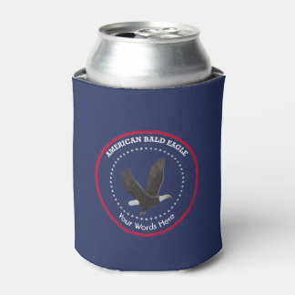 American Bald Eagle Custom Can Cooler