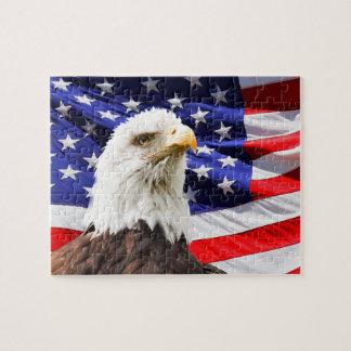 American Bald Eagle Flag Jigsaw Puzzle