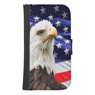 American Bald Eagle Flag Samsung S4 Wallet Case