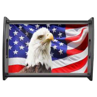 American Bald Eagle Flag Serving Tray