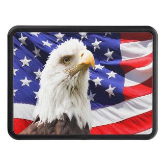 American Bald Eagle Flag Trailer Hitch Cover
