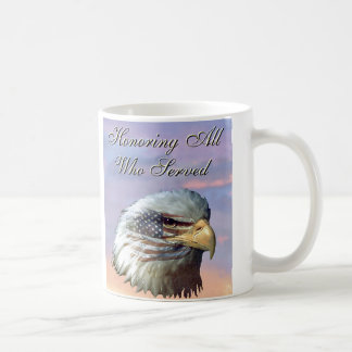 American Bald Eagle Flag Veterans Mug