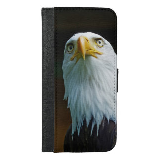 American Bald Eagle Head iPhone 6/6s Plus Wallet Case