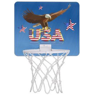 American bald eagle mini basketball hoop
