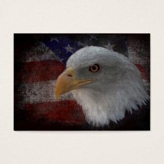 American Bald Eagle on Flag Business Card