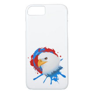 American Bald Eagle Red White & Blue Paint Spatter iPhone 8/7 Case