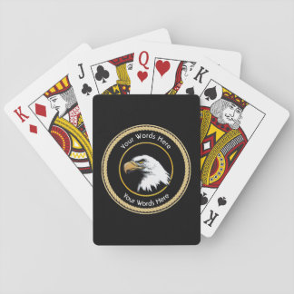 American Bald Eagle Rope Shield Playing Cards