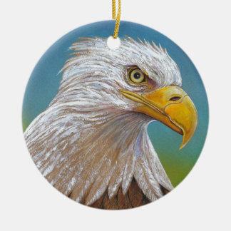 American Bald Eagle Round Ceramic Ornament