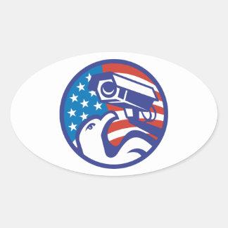 American Bald eagle Security Camera Sticker