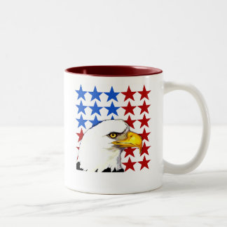 American Bald Eagle Stars Two-Tone Coffee Mug
