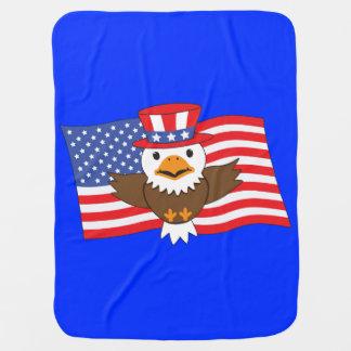American Bald Eagle Stroller Blanket
