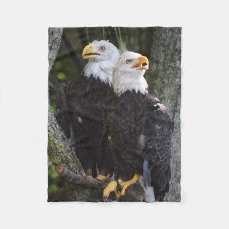 American Bald Eagle Throw Fleece Blanket