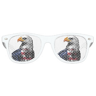 American Bald Eagle wrapped in the Flag of the USA Retro Sunglasses